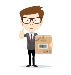 Businessman brought order vector