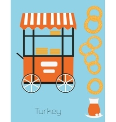 Turkey simit vector image