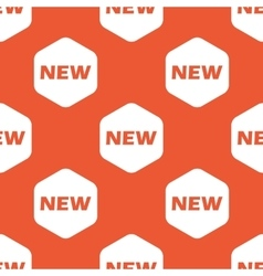 Orange hexagon new pattern vector