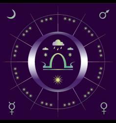 autumnal equinox vector image