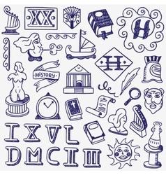 History doodles vector