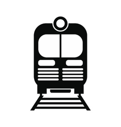 Train black simple icon vector