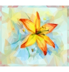 Floral pattern with lily flower vector