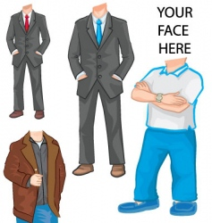 man's body template vector image