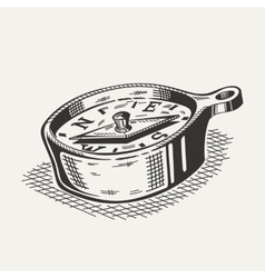 A compass on white background vector