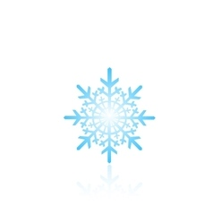 Blue snowflake vector image vector image