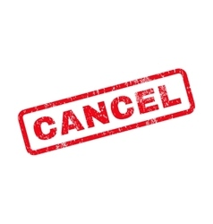 Cancel text rubber stamp vector