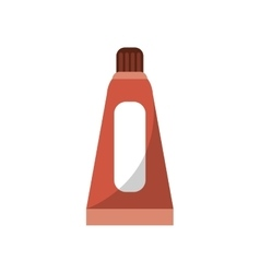 Color bottle object and school tool design vector
