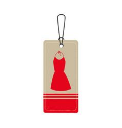 Elegant businesswoman dress icon vector