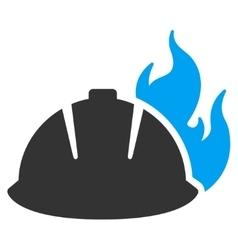 Fire helmet icon vector