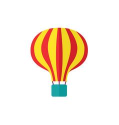 flat hot air balloon isolated vector image