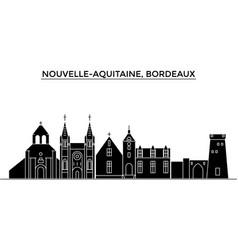 France nouvelle aquitaine bordeaux architecture vector