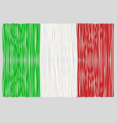 Hand drawn italian flag vector
