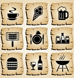 icons food vector image vector image
