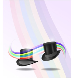 Magic hats vector image