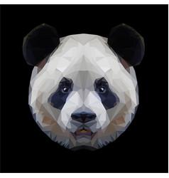 Panda head polygon portrait isolated vector
