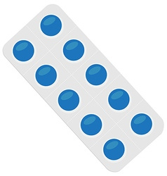 Pills blister pack vector image