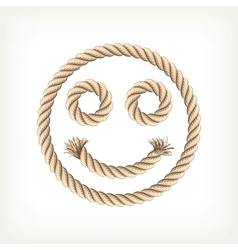 Rope smiley vector image vector image