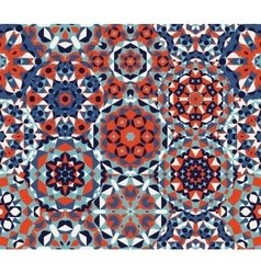 Seamless red blue one block wonder quilt vector