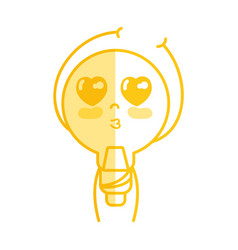 Silhouette kawaii cute tender bulb energy with vector
