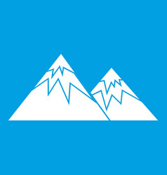 Swiss alps icon white vector