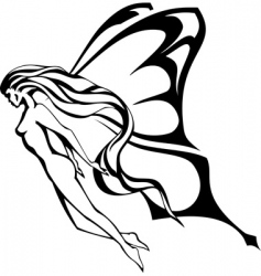 the fairy vector image