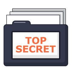 Top secret folder icon cartoon style vector