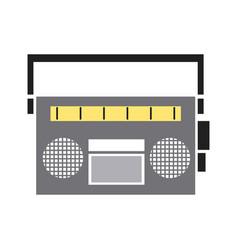 vintage stereo radio music audio vector image vector image