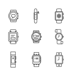 Wearable technology vector image vector image