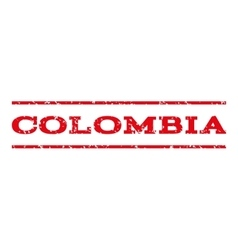Colombia watermark stamp vector