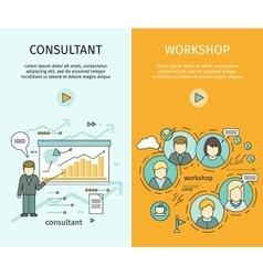 Management Consulting and Workshop Banners vector image