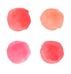 Red watercolor splash vector