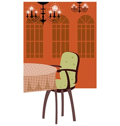 Luxury dining room vector