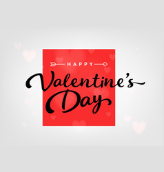 happy valentines day card with hearts and arrow vector image