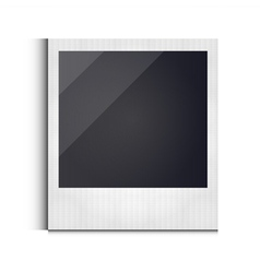 Polaroid photo frame isolated on white background vector