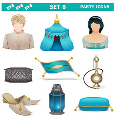Party Icons Set 8 vector image