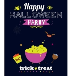 Bright halloween trick or treat card vector