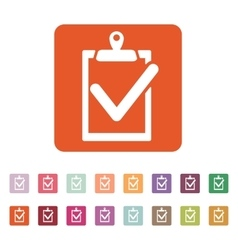 The clipboard icon checklist symbol flat vector
