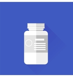 Pill white plastic bottle vector