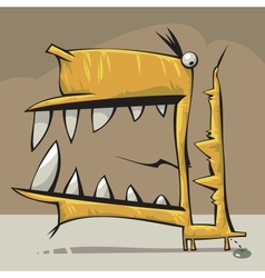 Creature with big mouth vector