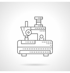Embroidery machine flat line icon vector