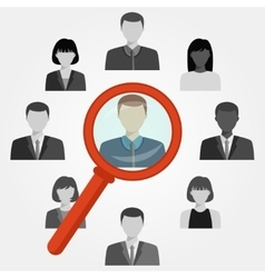 Search employee for recruitment agency vector