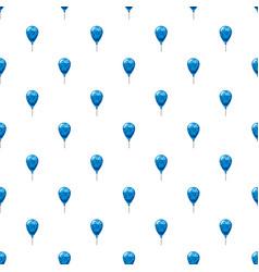 Blue balloon pattern vector