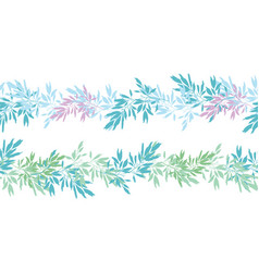 blue pink tropical leaves summer horizontal vector image vector image