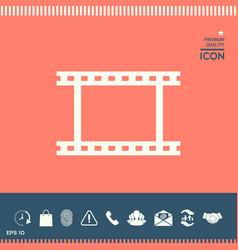 camera roll photographic film camera film symbol vector image vector image