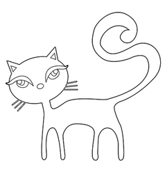 Cat outline vector