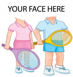 couple playing tennis vector image vector image