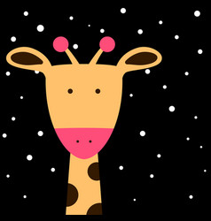 Cute fanny giraffe vector