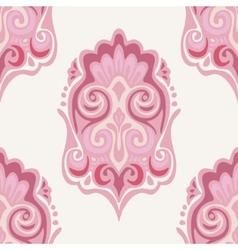 Damask seamless pattern pink vector