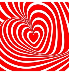 Design heart whirl background vector image